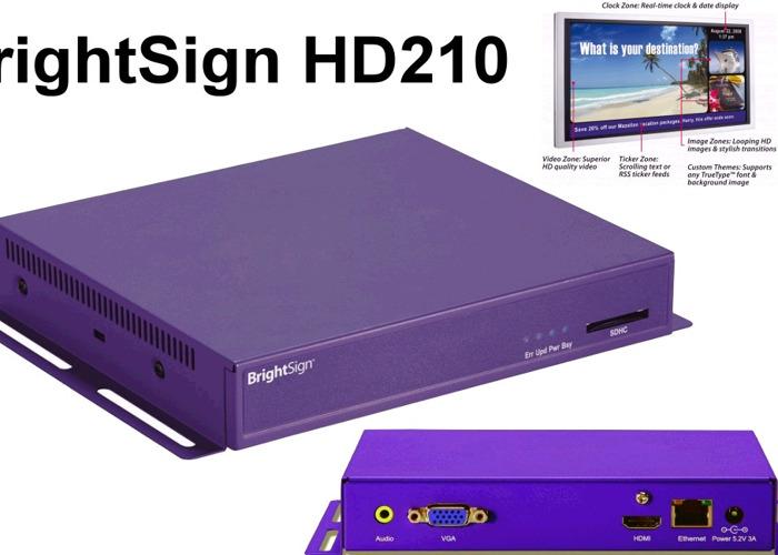 Digital Video Media Player (ideal for looping video installation) BrightSign HD 220 Installation / Signage Media Player  - 1