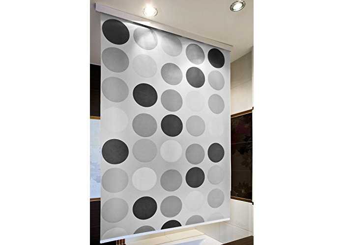Brilliant Shower Curtain Blind wide 80CM X long 240CM - Modern, Stylish, Waterproof - Absolute space saver (Retro) - 1