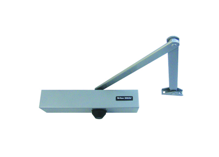 BRITON 2003V Size 1-4 Overhead Door Closer - Silver (SES) - 1