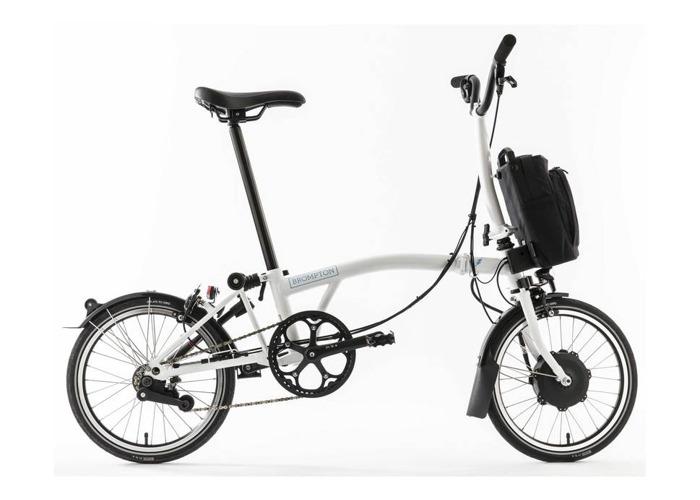 Brompton M6L 2020 Electric Folding Bike with city bag - 1