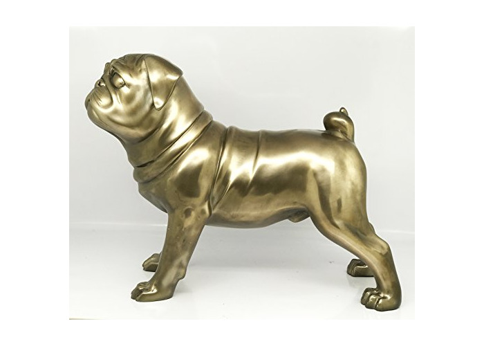 """Bronzed Pug Large 29.2cm / 11.5"""" ornament figure ideal gift gift boxed - 1"""