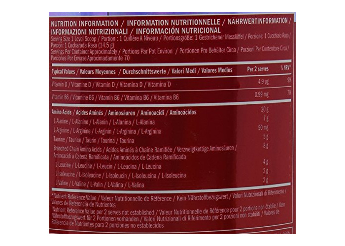 BSN Amino X Muscle Support Powder Supplement with Vitamin D, Vitamin A & Amino Acids. BCAA powder by BSN - Fruit Punch, 70 Servings, 1.01kg - 2