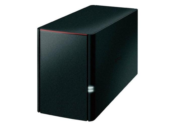 Buffalo 2TB LinkStation 220 NAS Drive, (2 x 1TB), RAID 0/1, GB LAN, NovaBACKUP, Built-in BitTorrent - 1