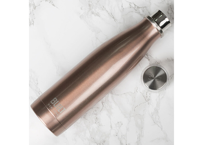 Built 483ml Double Walled Stainless Steel Water Bottle Rose Gold - 2
