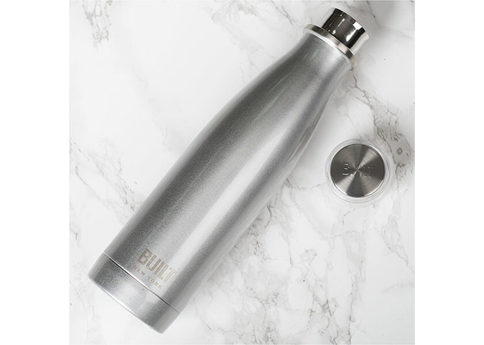 Built NY double Wall Stainless Steel Perfect Seal Water Bottle, 17 oz, Silver - 2