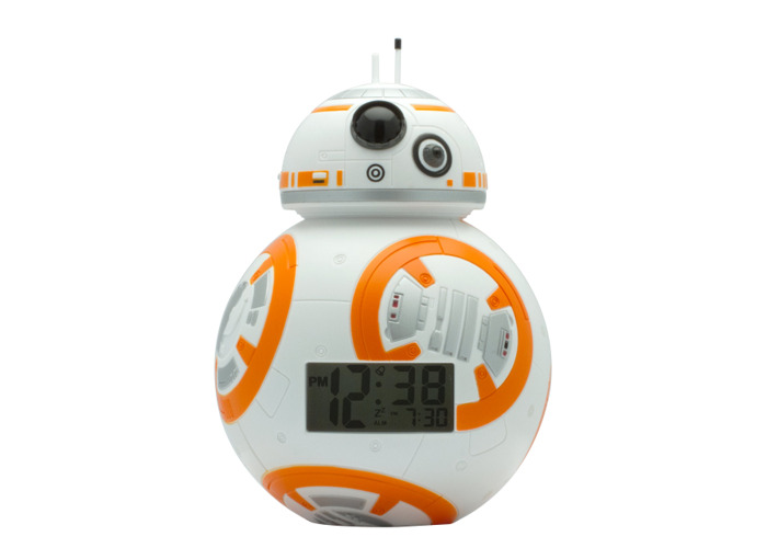 BulbBotz Star Wars 2020503 BB-8 Kids Light Up Alarm Clock | white/orange | plastic | 7.5 inches tall | LCD display | boy girl | official - 2