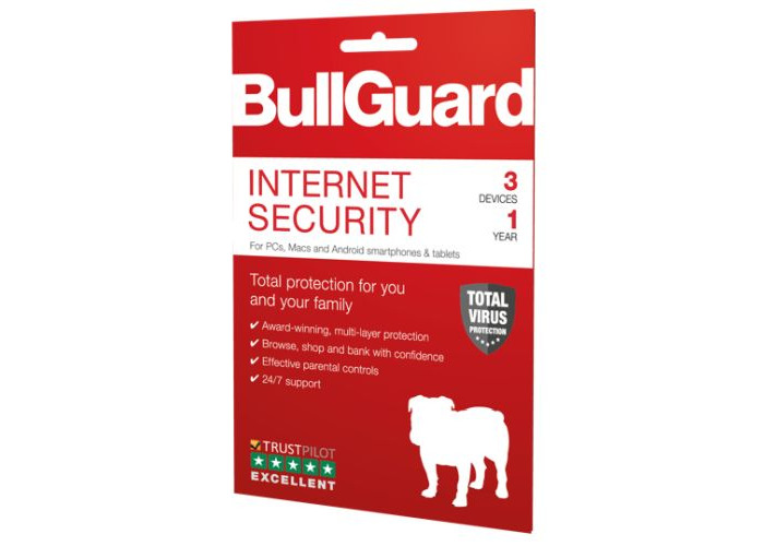 Bullguard Internet Security 2019 Retail, 3 User - 10 Pack, PC, Mac & Android, 1 Year - 1