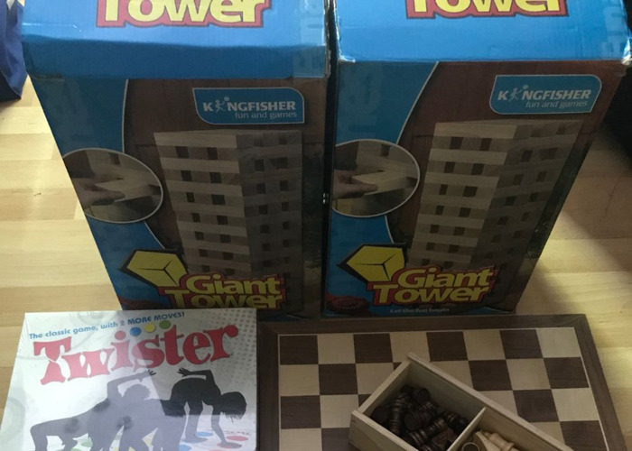 Bundle of Board Games (Monopoly, Twister, Chess, Giant Jenga, Scrabble and Cards) - 1