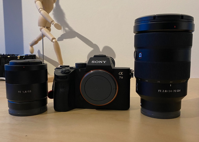 Bundle: Sony A7iii + 24-70mm f2.8 GM + 55mm f1.8 ZEISS  - 1