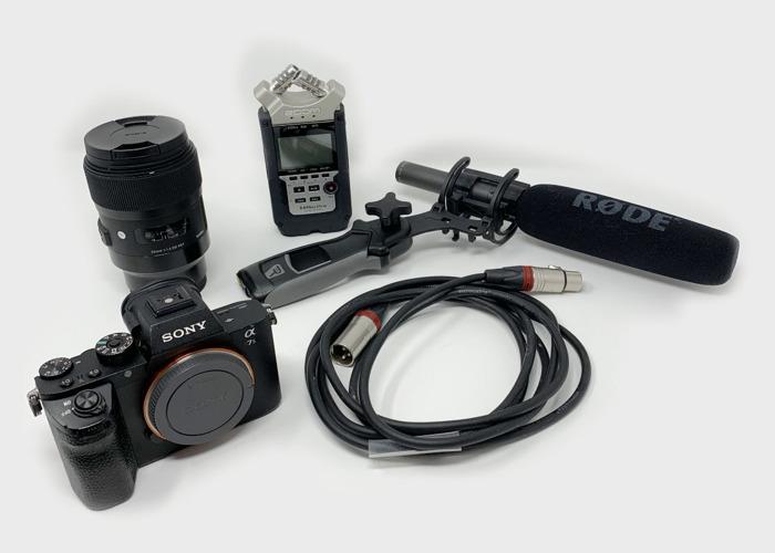 [Bundle] Sony A7s II + 35mm f/1.4 + Zoom H4n + Rode NTG-2 - 1