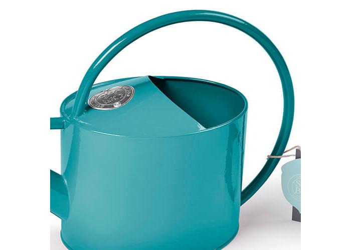 Burgon & Ball Galvanised Coated Steel Indoor Watering Can in Sea Blue - 2