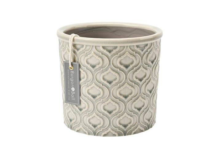 Burgon & Ball Glazed Pot Venetian Large Grey - 1