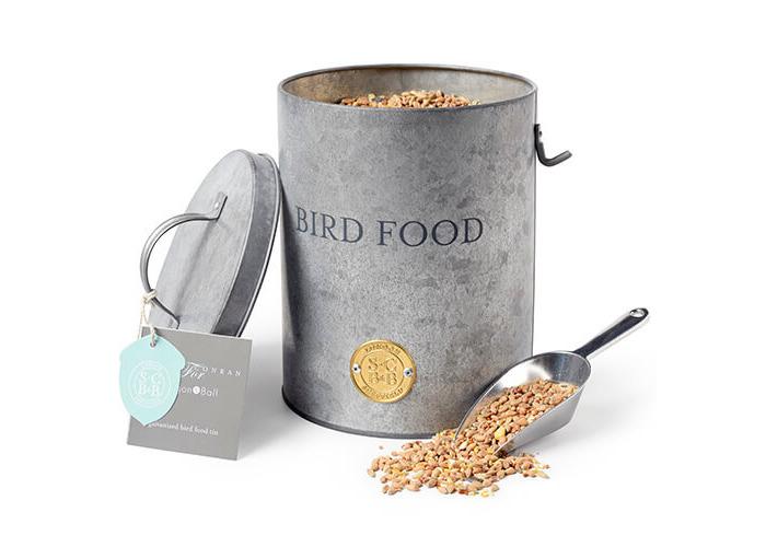 Burgon & Ball Sophie Conran Galvanized Bird Food Tin - 1