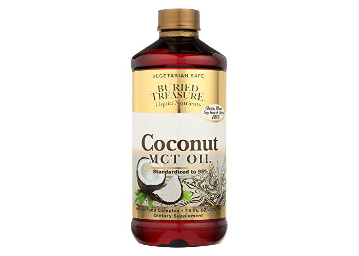 Buried Treasure MCT Coconut Oil Pure for Brain and Metabolic Boost16 oz BPA Free Bottle - 1