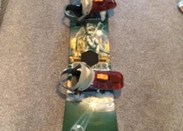 Burton snowboard and travel bag - 1