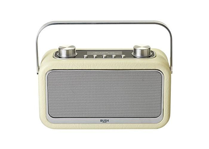 Bush Classic Leather Look Bluetooth DAB Radio - Cream - 1
