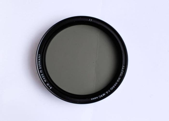 B W 72mm XS-Pro Vario Neutral Density MRC Nano Filter 0.3 to 1.5 1 to 5 Stops