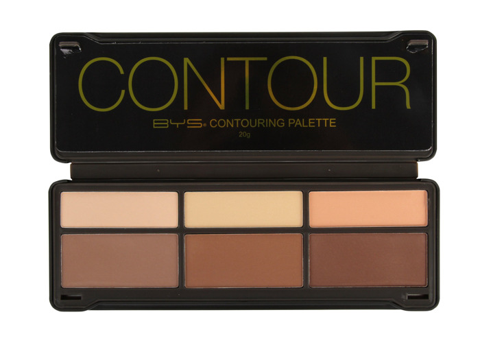 BYS Contour Palette (3x Contouring Powder, 3x Highlighting Powder) 20g/0.7oz - 2