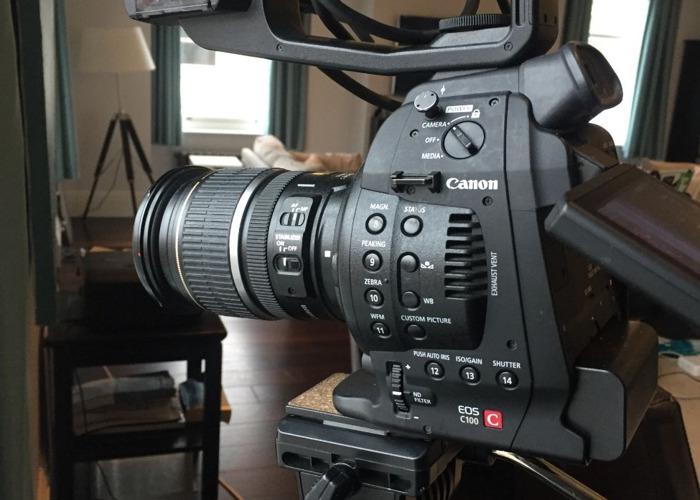 Rent Canon C100 Mk 1 **FULL KIT** (Tripod, mics, monopod, shoulder rig,  Ninja recorder) in London