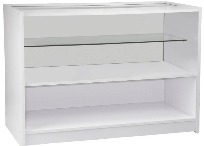 C1200 Retail Shop Counter - Brilliant White - 2