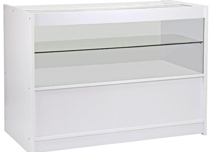 C1200 Retail Shop Counter - Brilliant White - 1