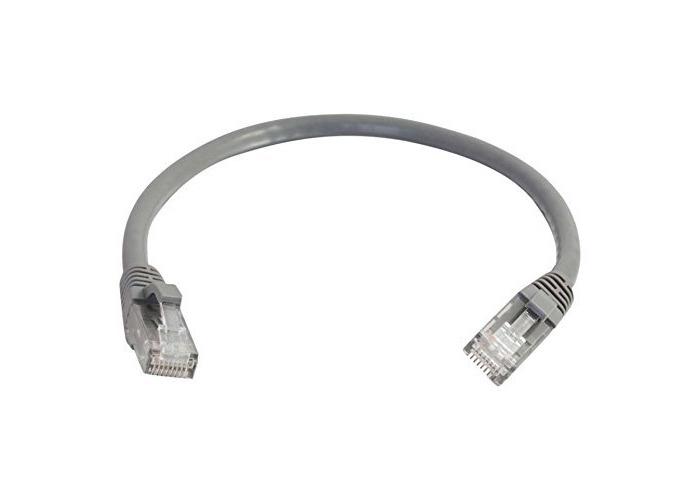 C2G 0.5M GREY CAT6 Ethernet Gigabit Lan Network Cable (RJ45) Patch cable, UTP, compatible with CAT.5, CAT.5e and CAT.7. - 1