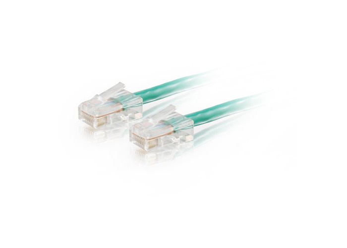 C2G 1M Cat5e Ethernet RJ45 High Speed Network Cable, LAN Lead GREEN Cat5e PVC UTP Patch Cable - 1