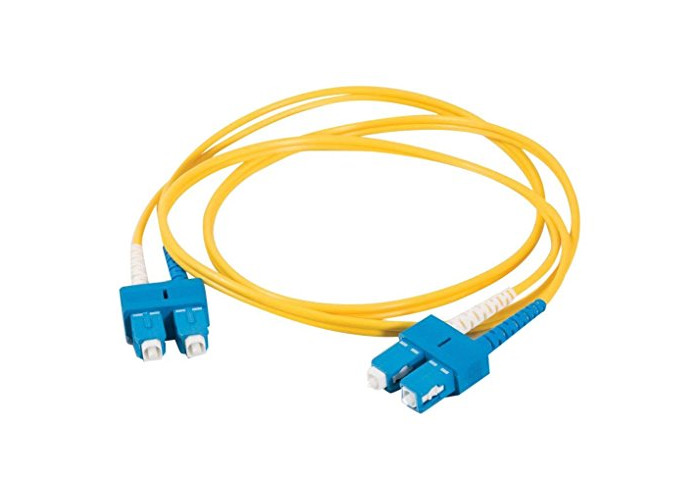 C2G 2m Fibre/Fiber Optic Cable for Gigabit Ethernet Applications SC/SC LSZH Duplex Multimode 9/125 SM Fibre - 1