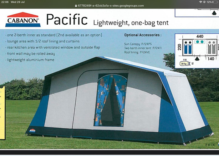 Cabanon frame tent - 2