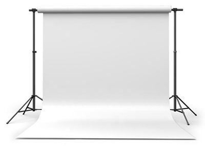 Calumet Arctic White 2.72m x 11m Seamless Background Paper - 1