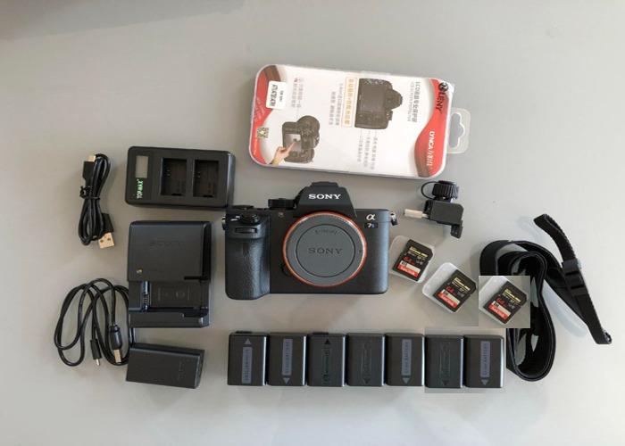 Camera Sony alpha a7sii (a7s ii, a7s 2, a7s2 mark 2 ii) (full kit available, prime lens, tripod, EF metabones adaptor, monitor, gimbal, ronin, easyrig, sound, light, radio mics...) mk2 mk ii  (similar to a7s, a7r, a7 a7iii, DSLR) - 1