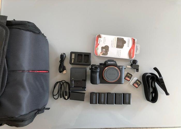 Camera Sony alpha a7sii (a7s ii, a7s 2, a7s2 mark 2 ii) (full kit available, prime lens, tripod, EF metabones adaptor, monitor, gimbal, ronin, easyrig, sound, light, radio mics...) mk2 mk ii  (similar to a7s, a7r, a7 a7iii, DSLR) - 2