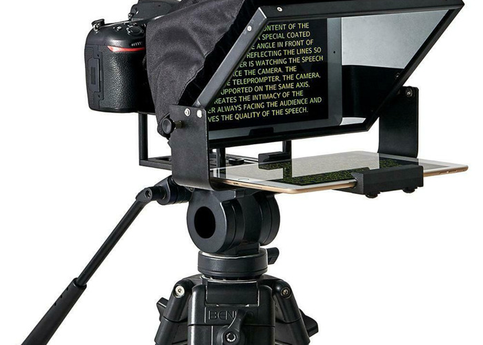Camera Teleprompter for Ipad or Android Tablet - 2