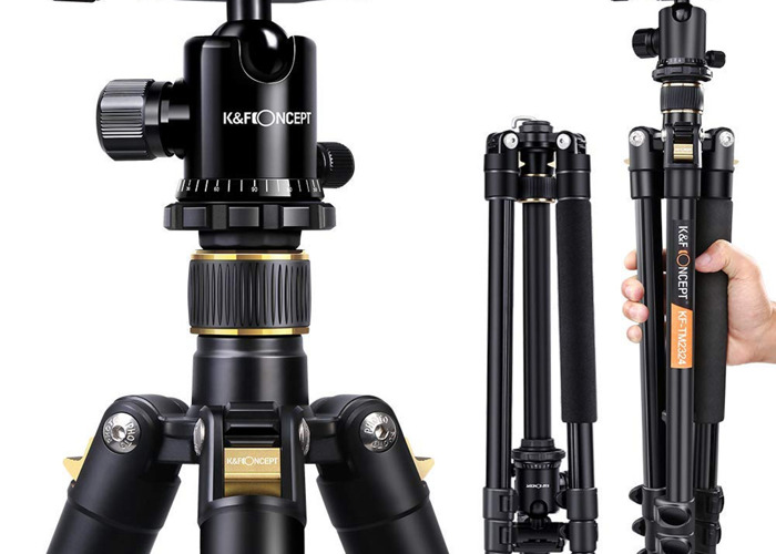 Camera Tripod with Hot-swap mount and spirit level - 1