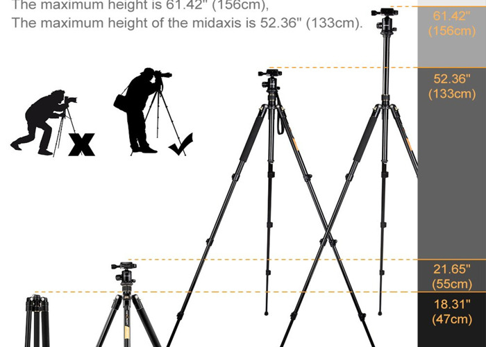 Camera Tripod with Hot-swap mount and spirit level - 2