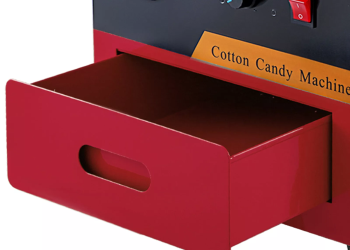 Candy floss machine in red professional grade - 2
