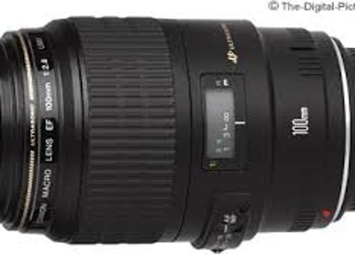 Canon 100mm f2.8 Macro USM EF Lens - 1