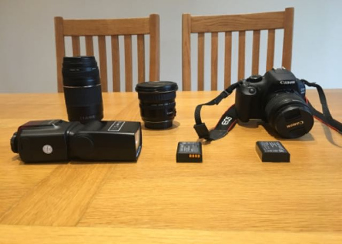 Canon 1200D DSLR With Various Lenses And Flashgun 📸 - 1