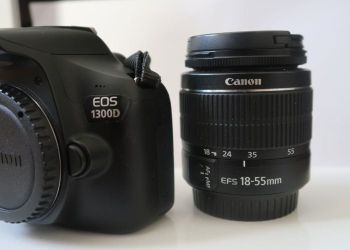 Canon 1300D + 18-55mm Lens -  DSLR Camera plus lens - 2
