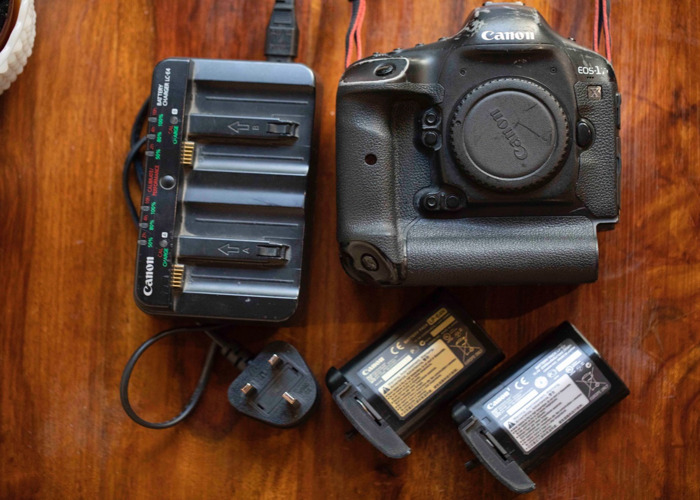 Canon 1dx body, charger and 2 batteries.  - 1