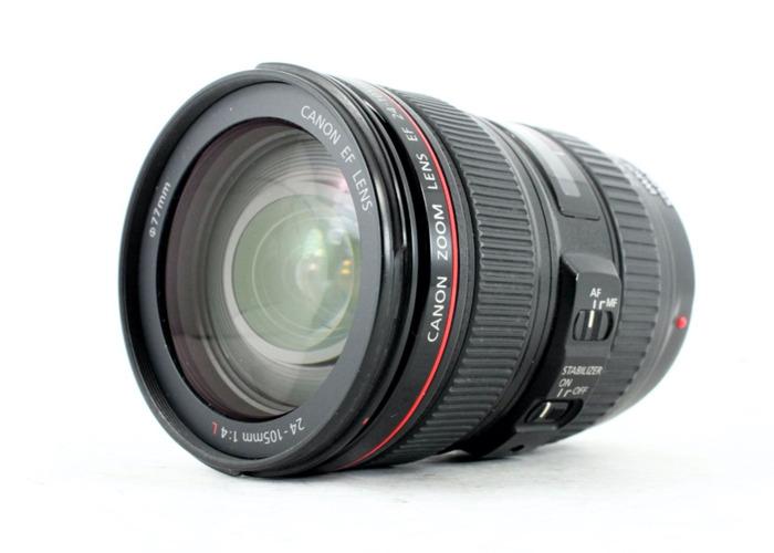 Canon 24-105 mm F4 IS USM (full frame) zoom lens + lens hood (1st) - 1