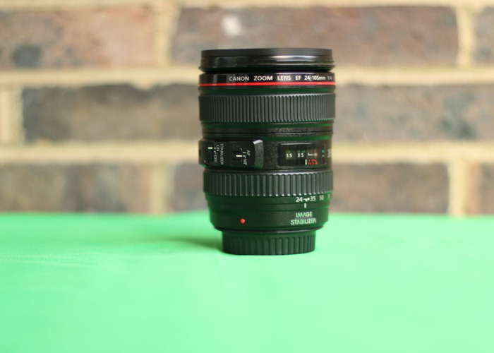 Canon 24-105 mm F4 IS USM parfocal (full frame) zoom lens + lens hood - 1