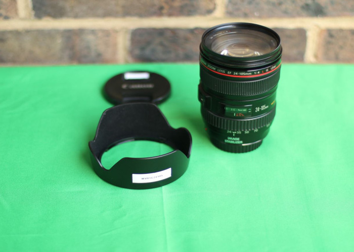 Canon 24-105 mm F4 IS USM parfocal (full frame) zoom lens + lens hood - 2