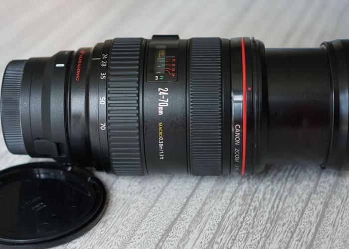 Canon 24-70 f2.8 L Zoom Macro Lens Af EF to E Sigma MC 11  - 2