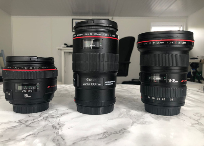 Canon 3 lens Pack L series - 1