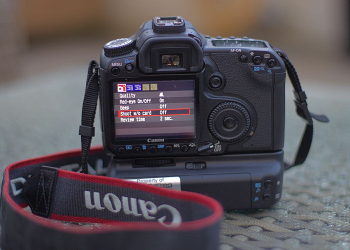 Rent Canon 40d DSLR Camera (With Battery Grip) in East Grinstead