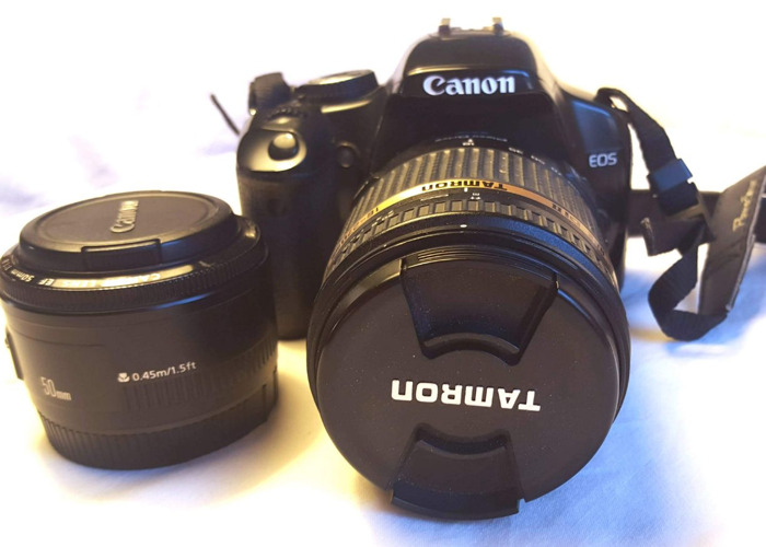Canon 450D DLSR + 50mm Canon + Tamron 18-270mm  lens - 1