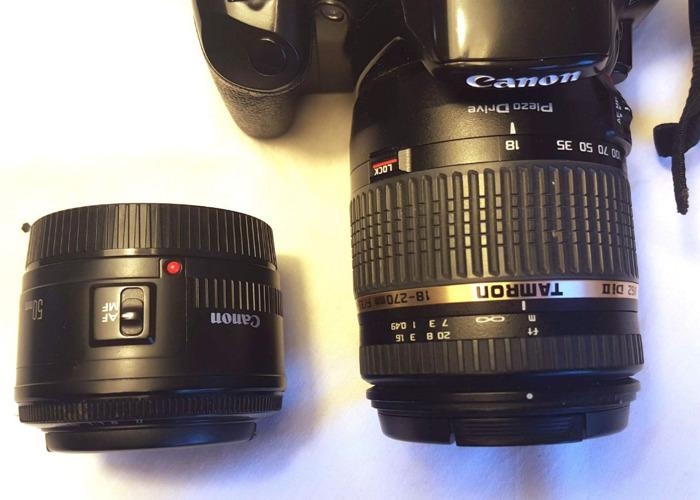 Canon 450D DLSR + 50mm Canon + Tamron 18-270mm  lens - 2