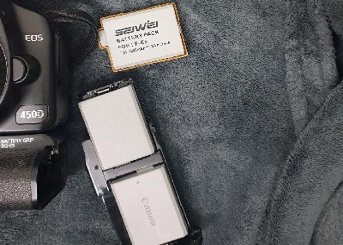 Canon 450d with Battery Grip BG-E5 and 3xbatt + 50mm lens  - 2