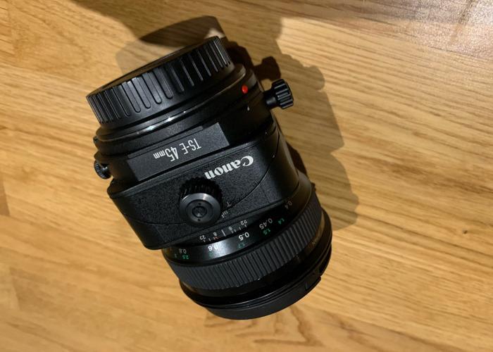 Canon 45mm tilt shift E lens - 2